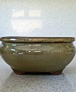 Glazed Bonsai Pot